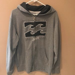 Men's Billabong Hoodie Large Grey
